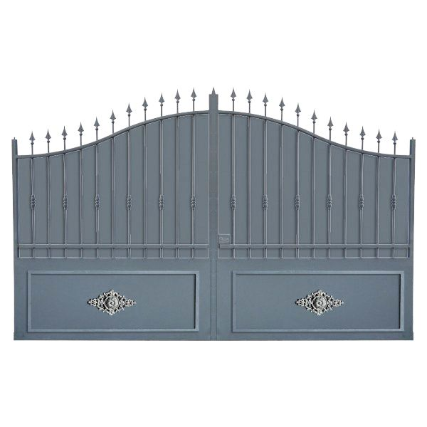 Portail cloture alu et portail aluminium avec portail coulissant et portail b - Portail battant en aluminium ...
