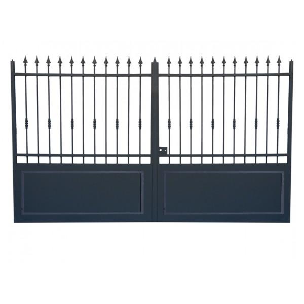Portail fer sur mesure portail en fer coulissant et for Portail coulissant m