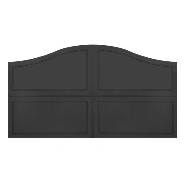 Portails en fer plein battants et coulissants de direct for Modele portail metallique
