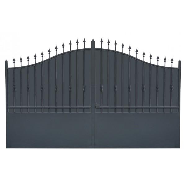 Portail fer coulissant portail fer battant portail sur mesure for Peinture pour portail en fer