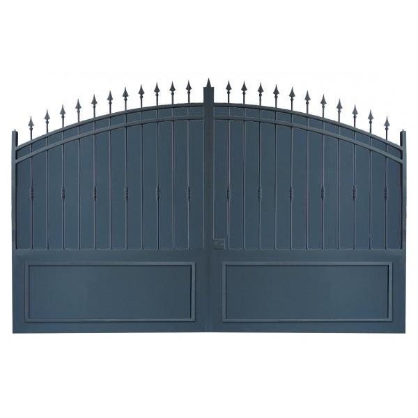 Portail cloture et portail fer les portails fer sur - Portail coulissant fer ...