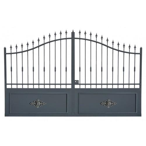 Portail cloture en fer, portail en fer coulissant et portail en fer battant 1RC