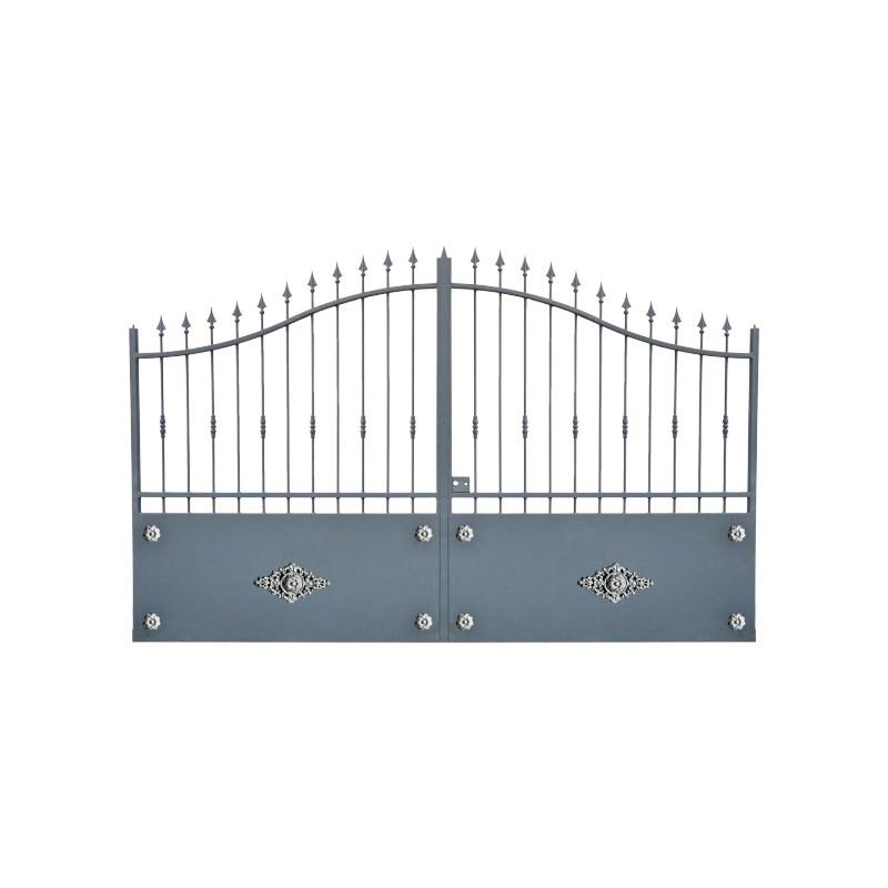 Portail Aluminium Modèle A1R, ce portail aluminium cloture votre jardin et votre maison