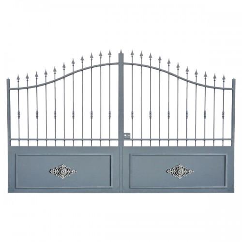 Portail Aluminium Modèle A1RC, ce portail aluminium clôture votre maison