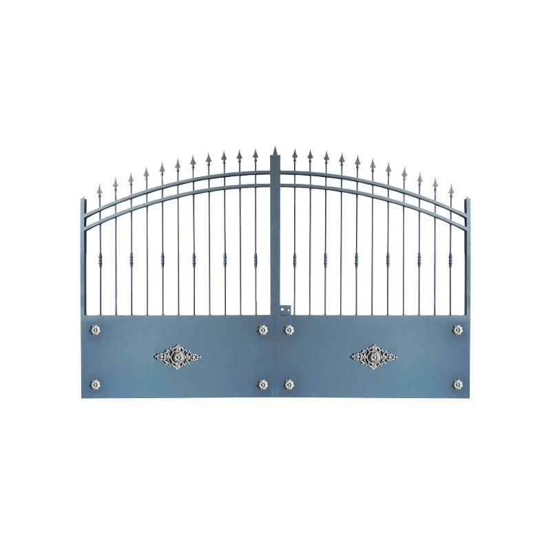 Portail Aluminium Modèle A2R, ce portail en aluminium cloture efficacement votre jardin et votre maison