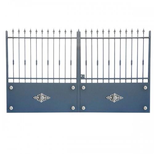 Portail Aluminium Modèle A3R, ce portail en aluminium cloture votre maison et votre jardin