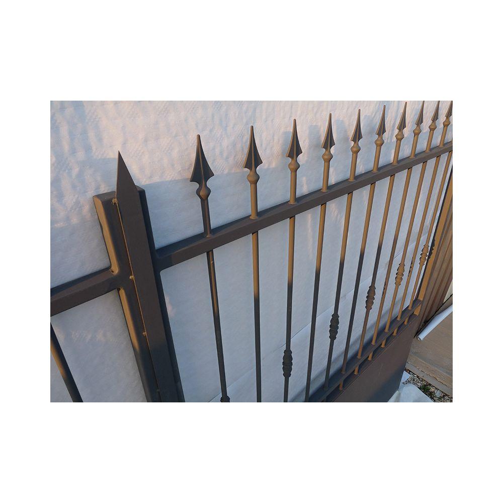 Portail fer coulissant portail fer battant portail sur mesure for Portail en fer forge