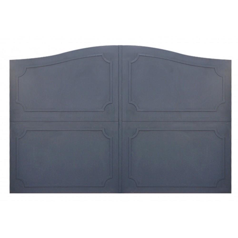 Portails en fer plein battants et coulissants for Photo de portail en fer plein