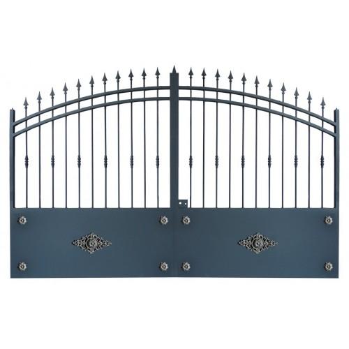 Portails métalliques coulissants et portails battants en fer du fabricant de portails Direct Portails Modèle 2R.