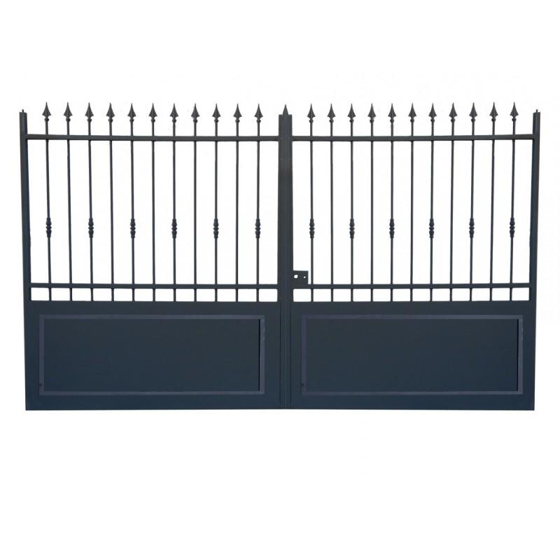 Portail fer sur mesure portail en fer coulissant et portail en fer battant prix usine Prix portail coulissant