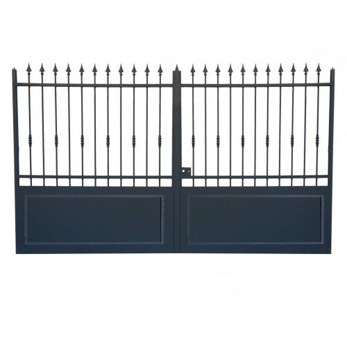 Portail cloture en fer, portail en fer coulissant et portail en fer battant 3C