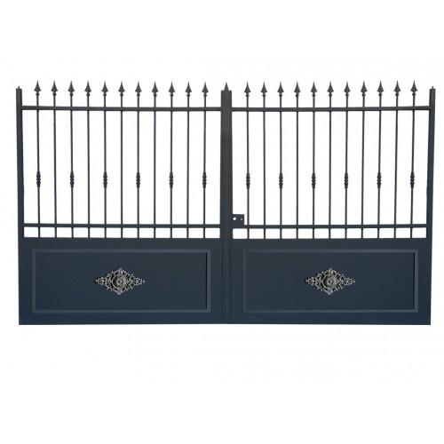 Portail cloture en fer, portail en fer coulissant et portail en fer battant 3RC