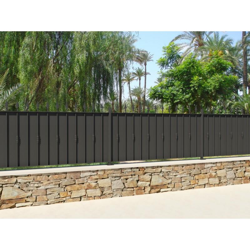 Clôture en Fer forgé avec tôle de fond, clôture de votre habitation, clôture de votre maison en fer forgé