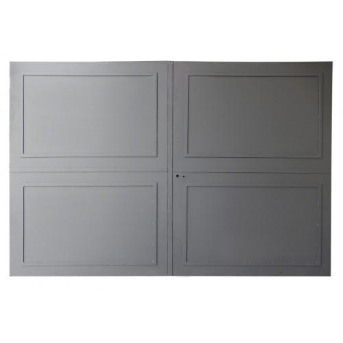 Portail en fer, portail en métal, portail plein, portail droit, portail métalliques.