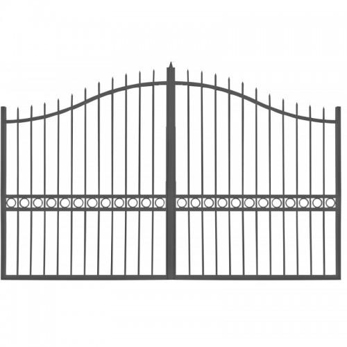 Portail Aluminium Ajouré Battant et Coulissant Modèle A1J