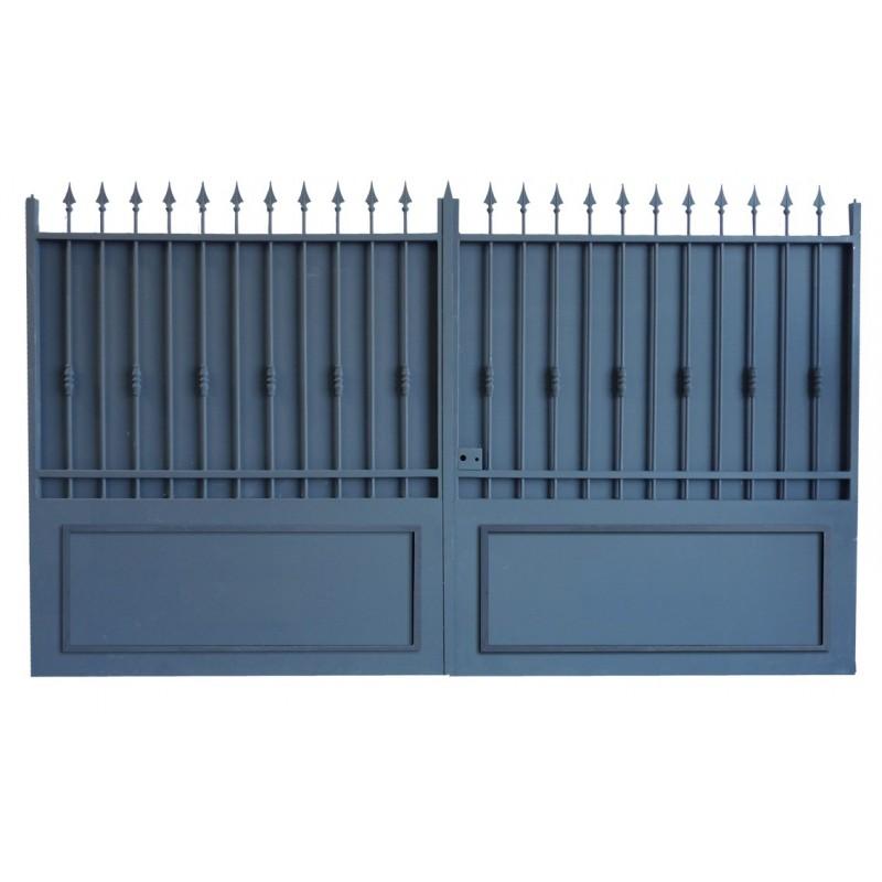portail fer forg pas cher prix usine portail fer sur mesure portail en fer coulissant et. Black Bedroom Furniture Sets. Home Design Ideas