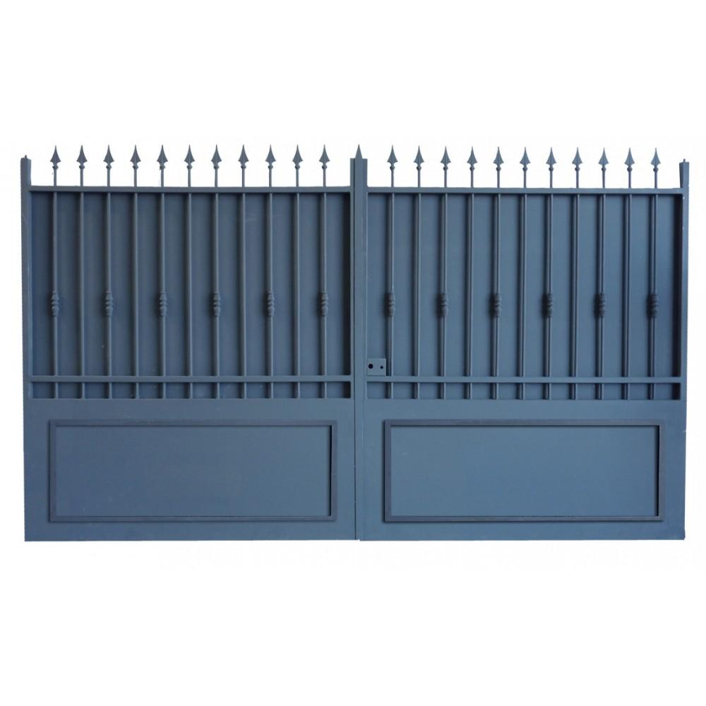 Portail fer forg pas cher prix usine portail fer sur mesure portail en fer coulissant et Prix portail coulissant