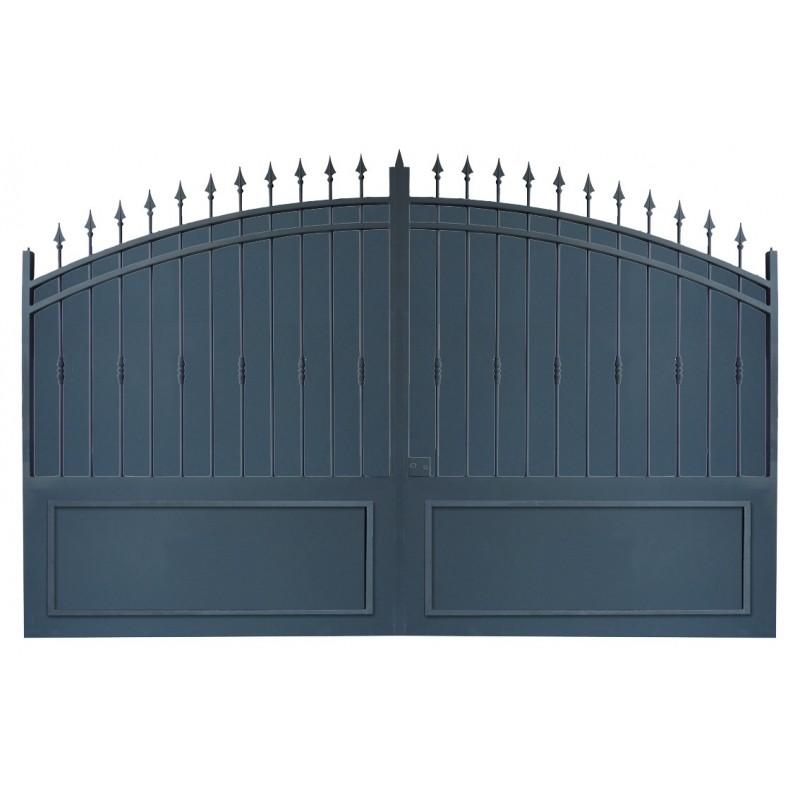 portail cloture et portail fer les portails fer sur mesure avec tolle. Black Bedroom Furniture Sets. Home Design Ideas