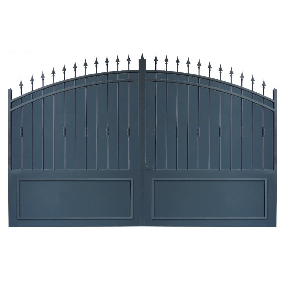 Portail cloture et portail fer les portails fer sur mesure avec tolle Portail coulissant en fer