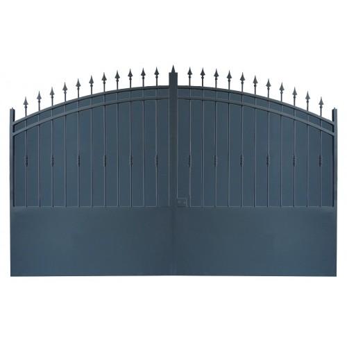 Portail cloture fer, portail fer et portail fer coulissant et portail fer battant Modèle 2
