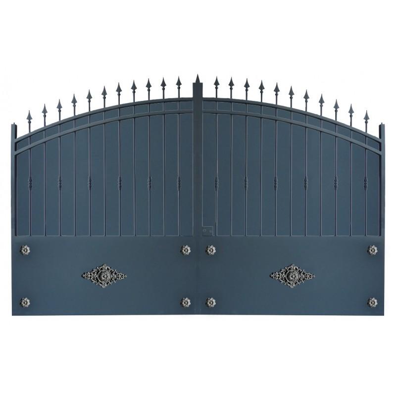 Portail cloture en fer, portail en fer et portail fer coulissant et portail fer battant 2R