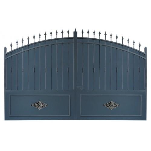 Portail cloture en fer, portail en fer coulissant et portail en fer battant 2RC