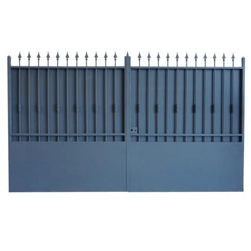 Portail cloture en fer, portail en fer coulissant et portail en fer battant 3