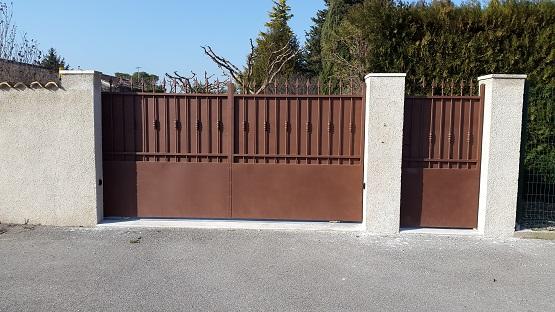 portail fer coulissant portillon fer direct portail