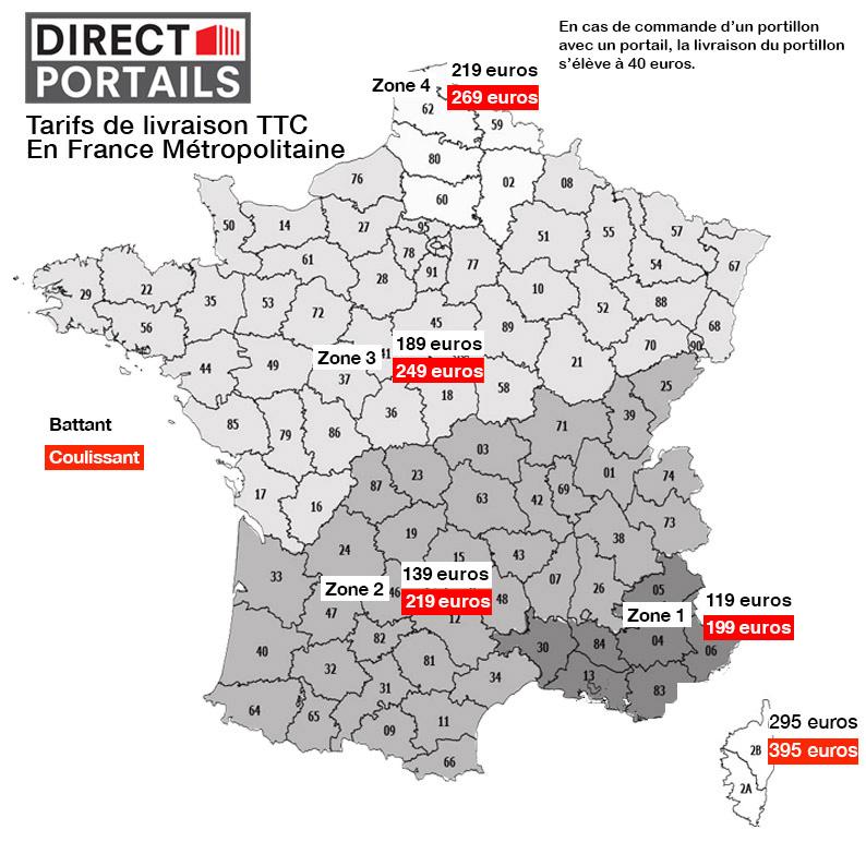 Livraison portail fer France